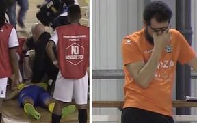 Cầu thủ futsal qua đời sau khi bị đột quỵ trên sân, cầu thủ và các CĐV bật khóc nức nở