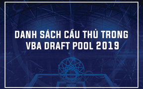 VBA công bố danh sách cầu thủ trong Draft Pool 2019