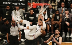 Không có Joel Embiid, Ben Simmons và Tobias Harris vẫn tỏa sáng giúp 76ers thắng dễ Nets