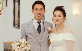 Hùng Dũng rạng ngời bên cô dâu xinh đẹp trước giờ G