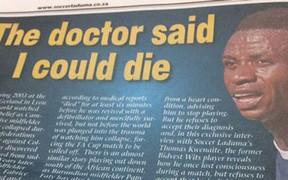 Bỏ qua cảnh báo chết người của bác sĩ, cầu thủ đột tử ngay trên sân