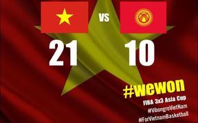 FIBA 3x3 Asia Cup 2019: Tuyển Việt Nam thắng áp đảo đại diện Kyrgyzstan
