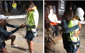 Chàng trai chạy một mạch vượt quãng đường marathon dài tới 217km và lời cầu hôn tới bạn gái khiến ai cũng xúc động