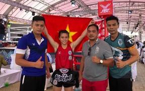 Nghẹt thở vượt qua đối thủ Philippines, Huỳnh Hà Hữu Hiếu giành đai vô địch Muay Thái thế giới