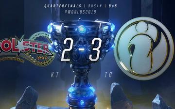 Tứ kết CKTG 2018 ngày 1: Đại diện mạnh nhất Hàn Quốc, KT Rolster đã bị loại ngay trên sân nhà