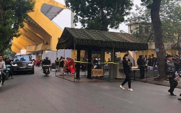 Cấm đường xung quanh sân Hàng Đẫy, phục vụ trận đấu giữa Việt Nam và Campuchia