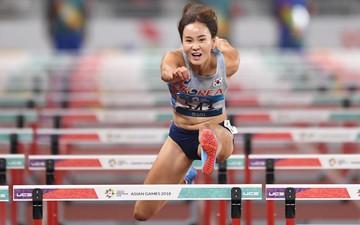 Nét đẹp của nữ hoàng tốc độ giành HCV 100 m vượt rào người Hàn Quốc
