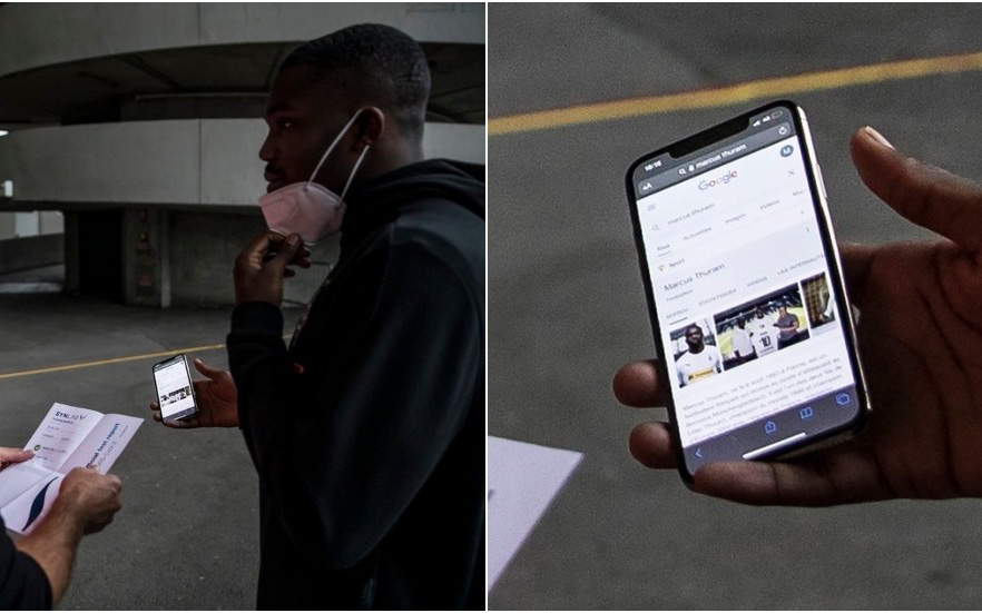 """Bất cẩn quên sạch giấy tờ khi đến sân, sao bóng đá đành phải mở điện thoại nhờ """"chị Google"""" và nhận về cái kết cực may mắn"""