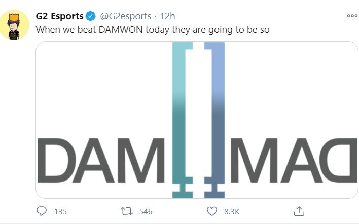 Chưa đánh đã ''quẩy'', G2 Esports nhận trận thua muối mặt trước DAMWON Gaming tại CKTG 2020