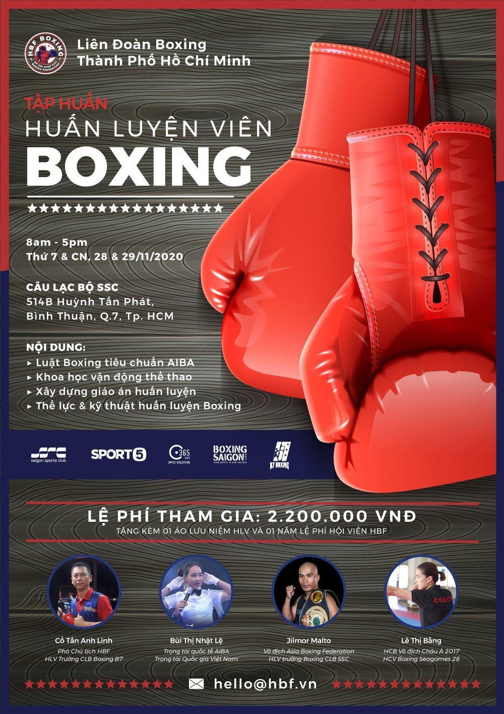 Liên đoàn Boxing TP.HCM HBF tiếp tục mở lớp tập huấn HLV Boxing phong trào - Tin vui cho người muốn khởi nghiệp với Boxing - Ảnh 1.
