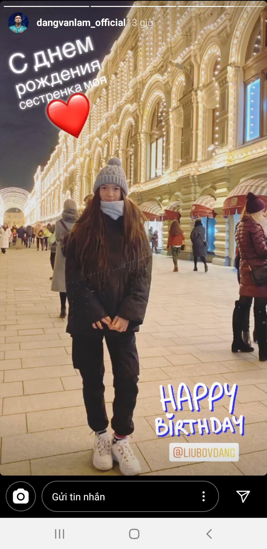 Văn Lâm gọi điện chúc mừng sinh nhật từ xa và tặng quà đặc biệt, em gái Thanh Giang liền bật khóc vì cảm động - ảnh 1