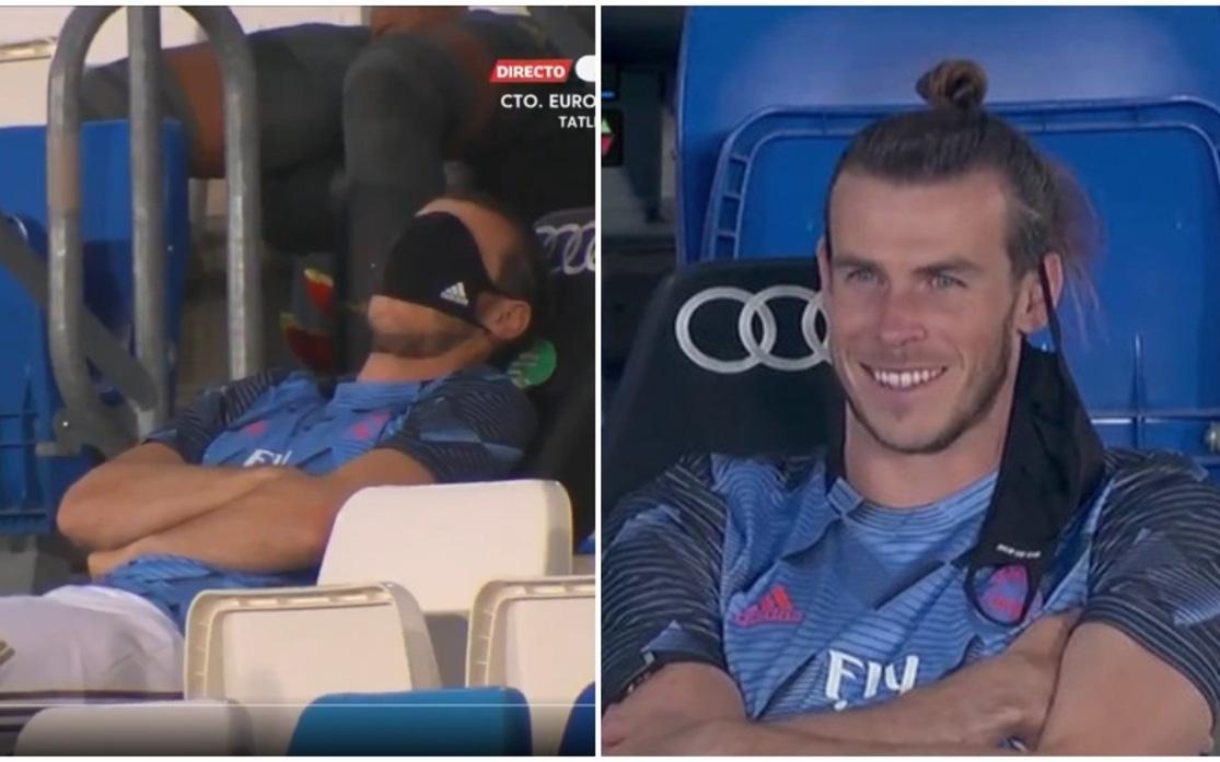 Lấy khẩu trang bịt mắt giả vở ngủ giữa lúc đội nhà thi đấu, siêu sao Gareth Bale phải chịu cơn mưa gạch đá