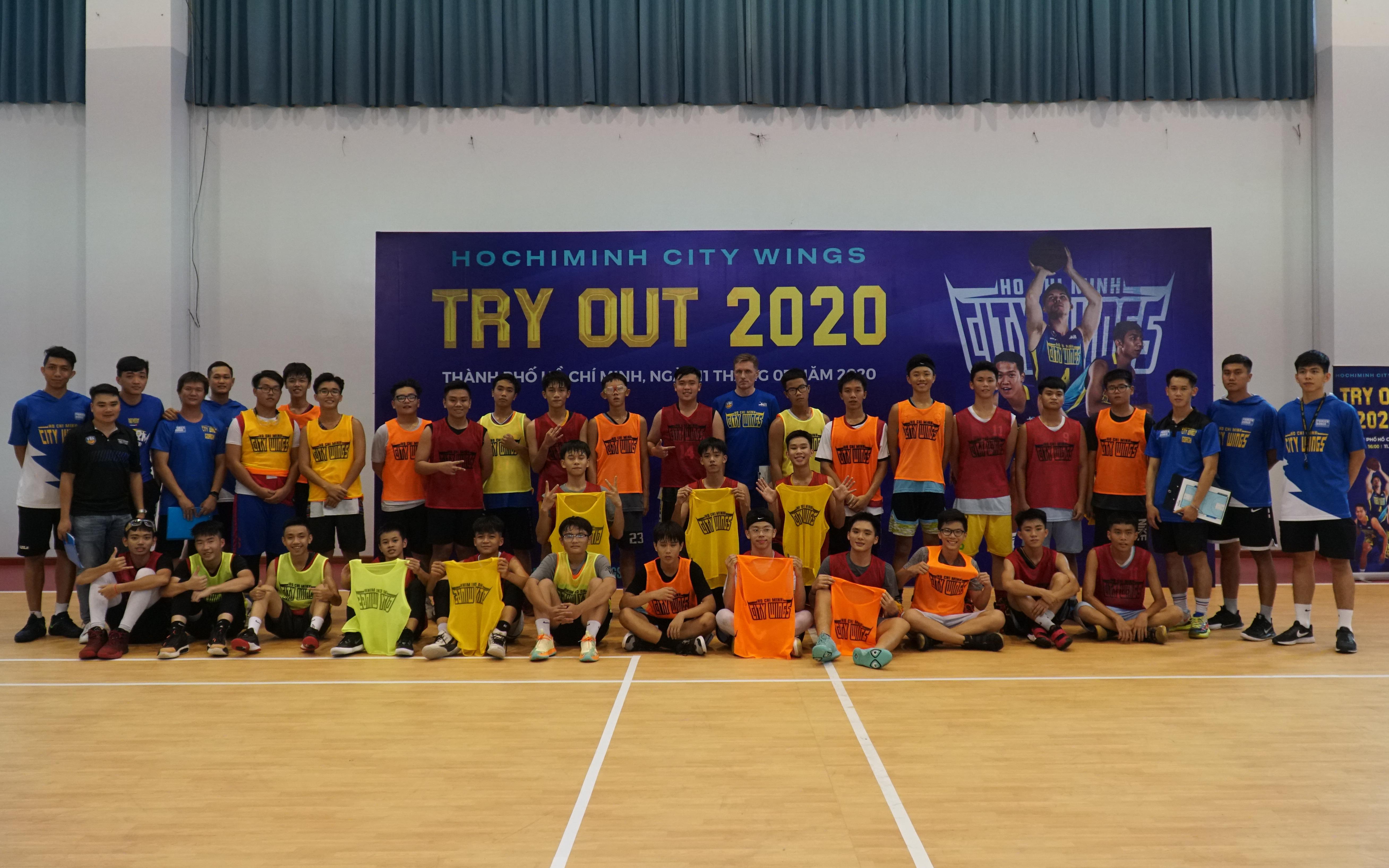 Hochiminh City Wings lập kỷ lục Tryout của VBA 2020, hướng đến mục tiêu ươm mầm tài năng tương lai cho đội bóng