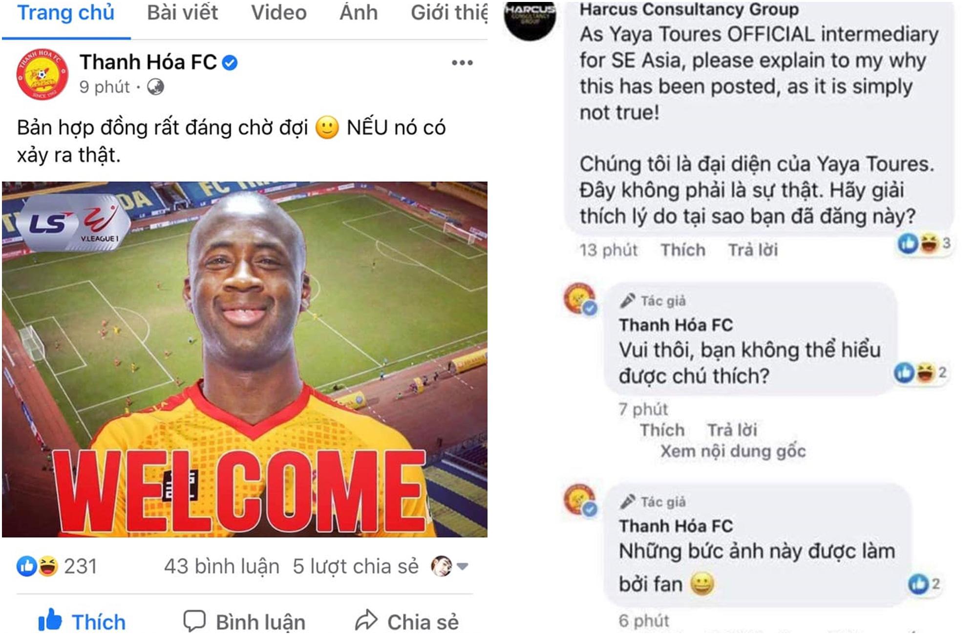 Đội Thanh Hóa bị hỏi chuyện khi chào đón Yaya Toure đến V.League chỉ để vui thôi - Ảnh 1.