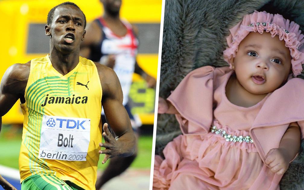 """""""Tia chớp"""" Usain Bolt lần đầu đăng ảnh thiên thần nhỏ lên MXH, các fan xuýt xoa khi biết tên của cô bé"""