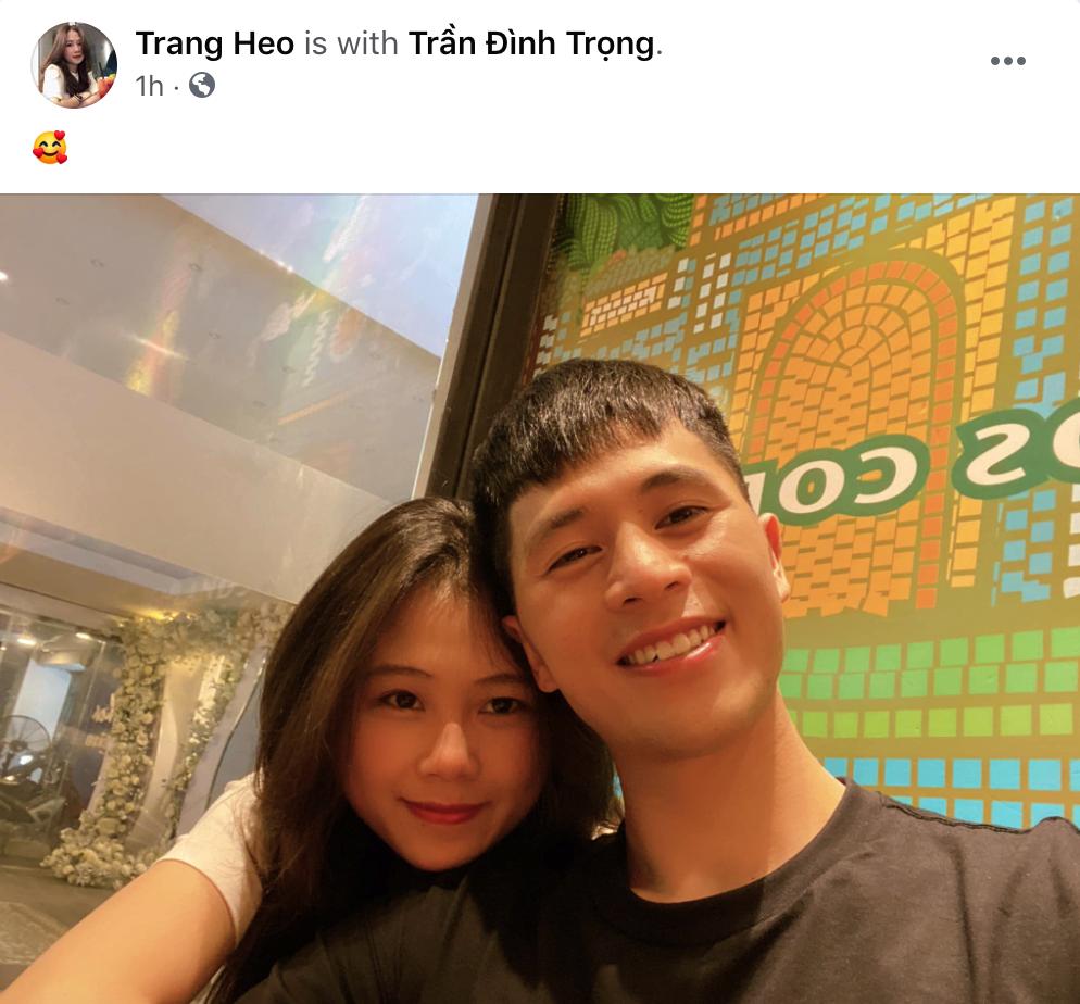 Bạn gái đăng ảnh tình cảm, Đình Trọng kêu nể lắm mới cho chụp cùng sau 3 tháng im ắng - Ảnh 1.