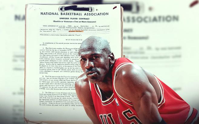 """Bản hợp đồng copy của Michael Jordan """"gây sốt"""" dư luận: Mảnh giấy vô giá trị bỗng nhiên được bán với giá trên trời"""