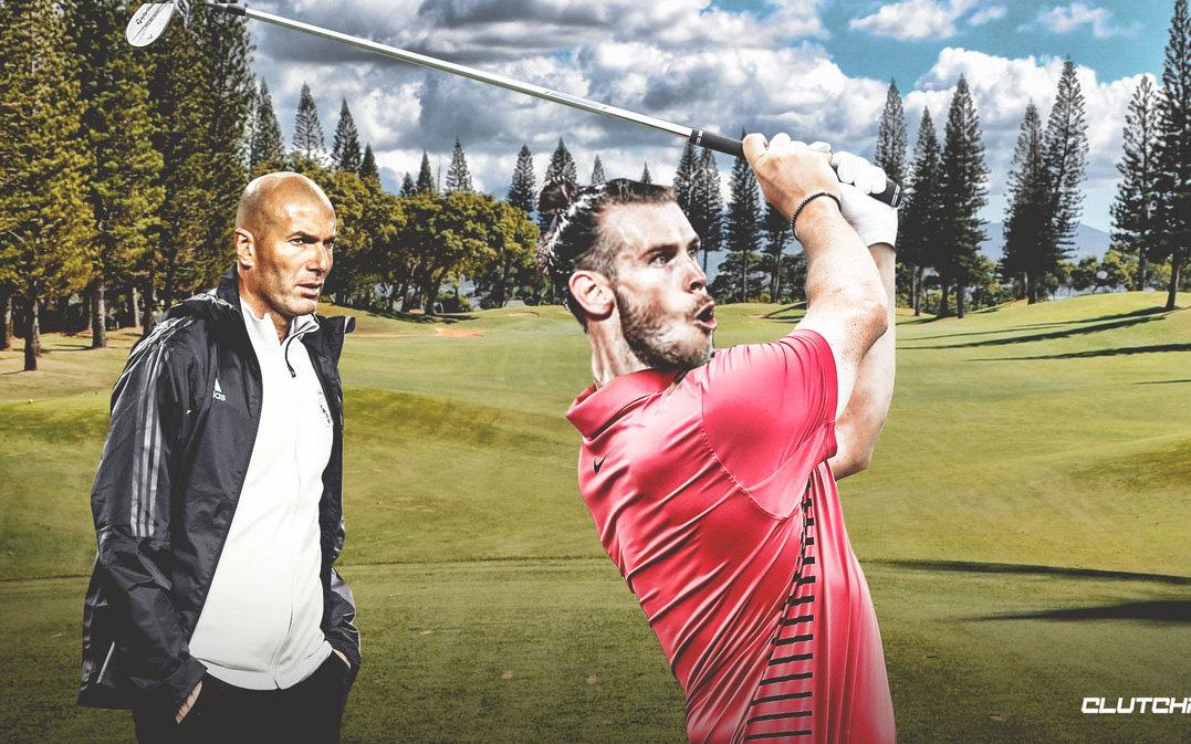 ''Bao tải tiền'' Gareth Bale thảnh thơi đánh golf ngay trước khi Real Madrid muối mặt rời Champions League