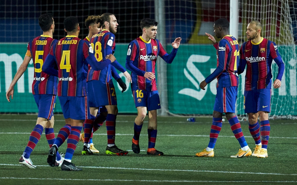 """Barca thắng nhọc """"ngựa ô"""" ở cúp Nhà vua Tây Ban Nha"""