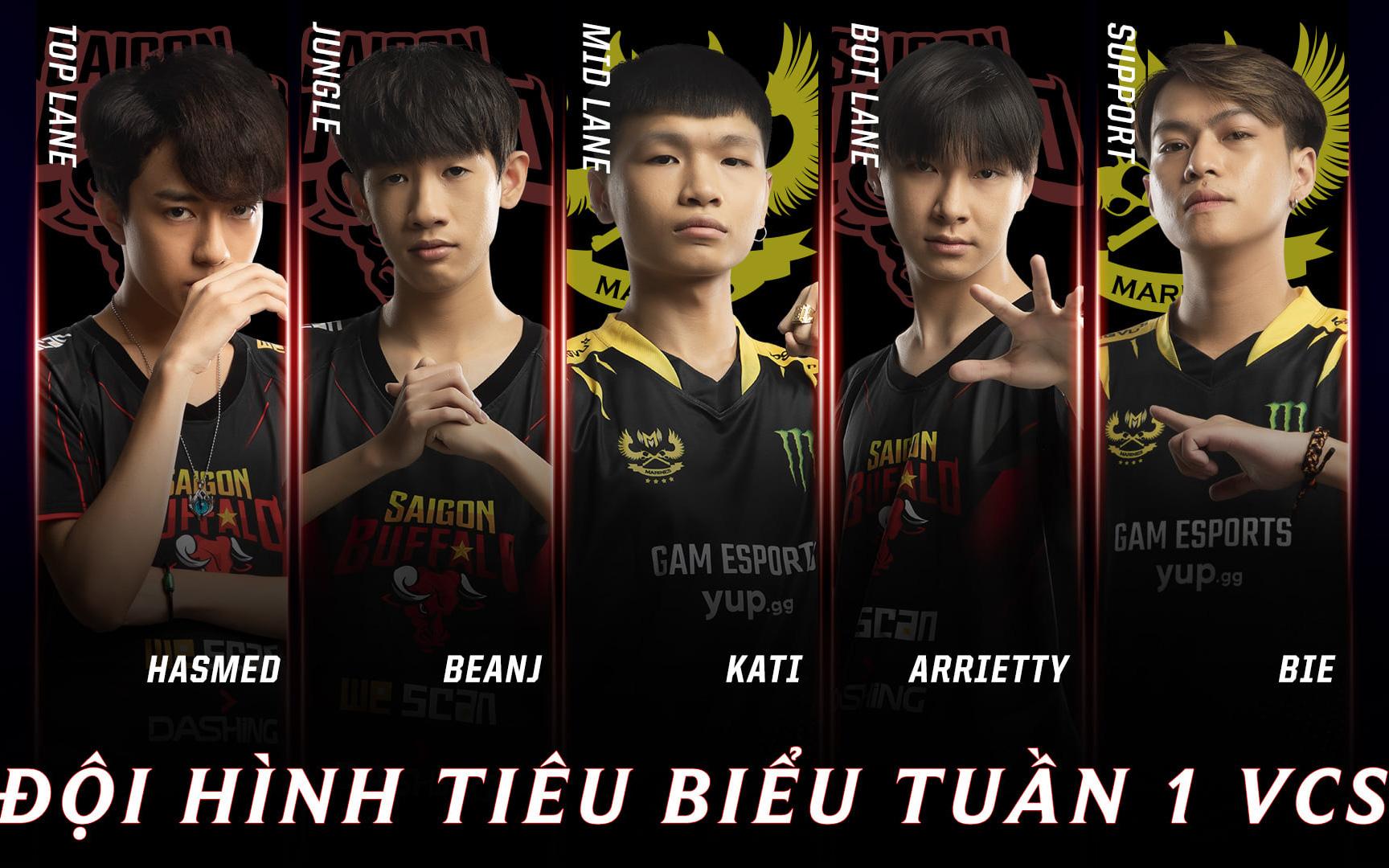 Đội hình tiêu biểu VCS tuần 1: Saigon Buffalo nhuộm đỏ danh sách, GAM Esports góp mặt với 2 tân binh