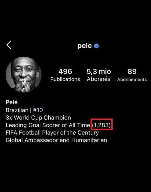 Tài khoản Instagram của Pele vẫn chưa công nhận cột mốc mới của Ronaldo - Ảnh 2.