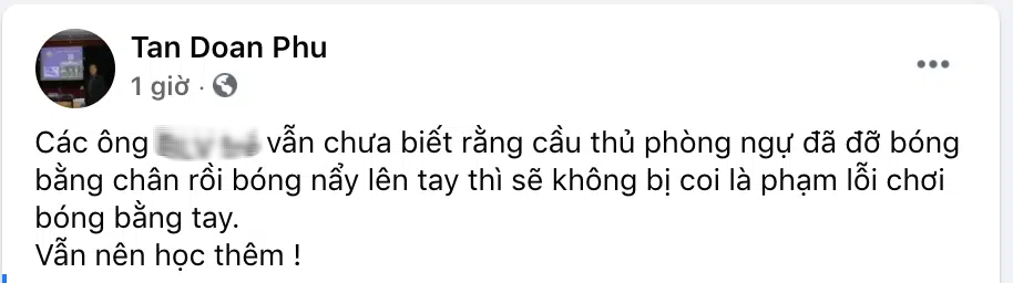 Vì sao bóng chạm tay Bùi Hoàng Việt Anh nhưng Hà Nội FC không bị thổi phạt đền? - Ảnh 1.