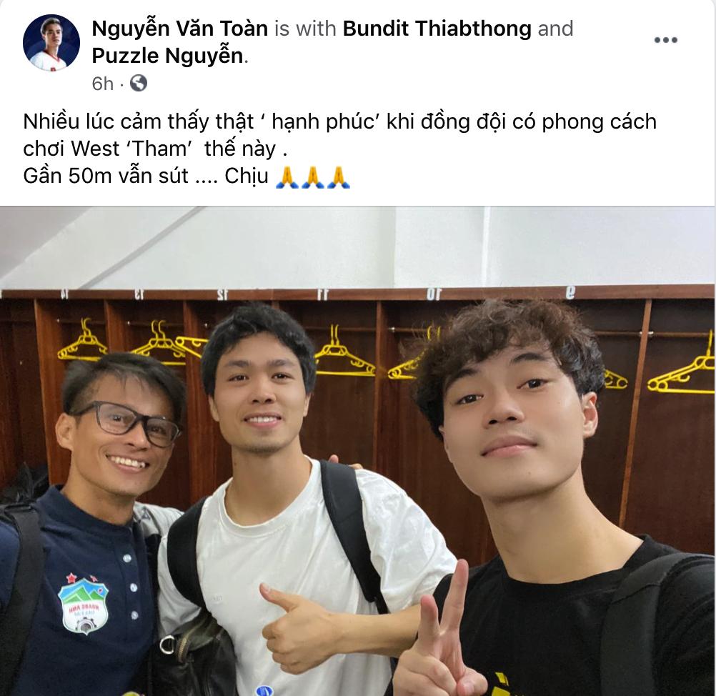 Công Phượng bị Văn Toàn vái lạy, gọi là đồ tham lam sau pha bóng trong trận thắng Hà Nội FC - ảnh 3