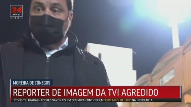 Người đại diện của cầu thủ Porto tấn công phóng viên ngay trên sóng truyền hình - Ảnh 2.