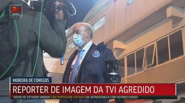 Người đại diện của cầu thủ Porto tấn công phóng viên ngay trên sóng truyền hình - Ảnh 3.