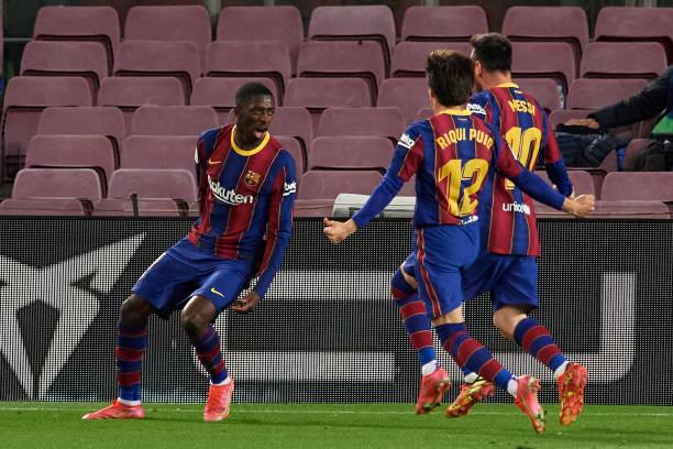 """""""Chân gỗ"""" Dembele tỏa sáng ở phút 90, Barcelona nhọc nhằn đánh bại Valladolid với tỷ số tối thiểu - Ảnh 8."""