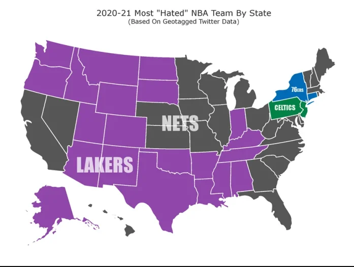 """Los Angeles Lakers và Brooklyn Nets, ai mới là đội bóng """"đáng ghét"""" nhất NBA? - Ảnh 2."""