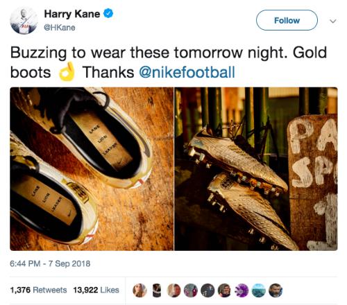 Harry Kane khoe giày mới kỉ niệm danh hiệu Vua phá lưới Ngoại hạng Anh - Ảnh 3.