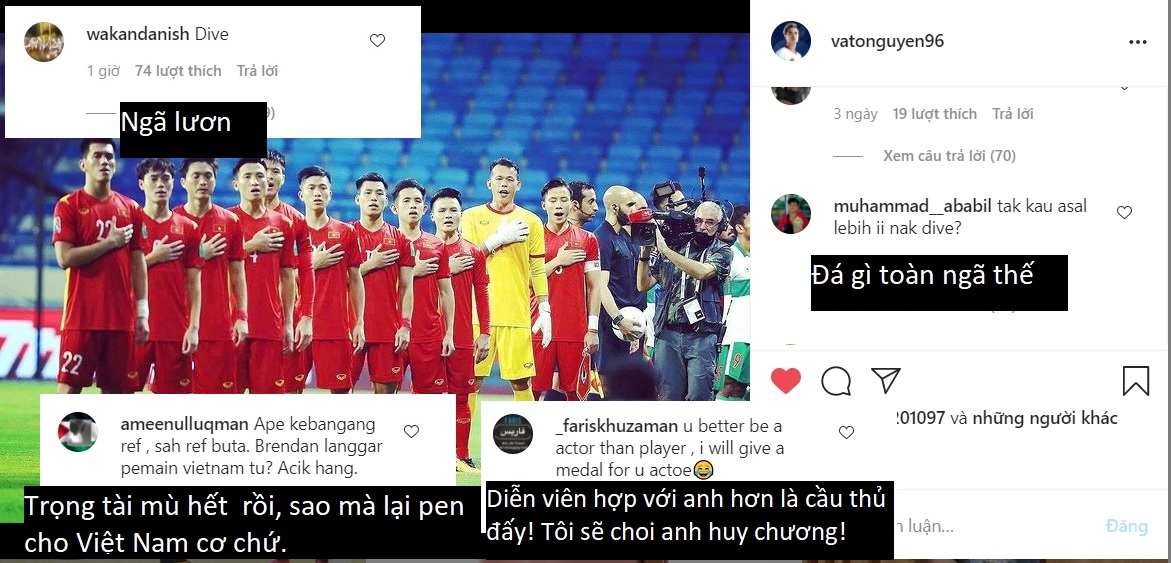 Cổ động viên Malaysia tấn công trang cá nhân Văn Toàn, khẳng định tiền đạo Việt Nam ngã lươn - ảnh 1