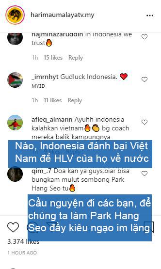 Nghe theo fake news, fan Malaysia cổ vũ Indonesia chiến thắng để thầy Park khăn gói về nước - Ảnh 3.