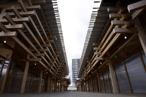 Làng vận động viên của Olympic Tokyo 2021 mở cửa trong ảm đạm - Ảnh 5.
