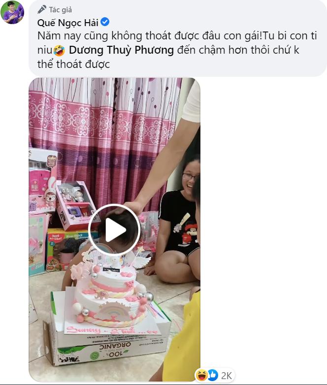 Quế Ngọc Hải lỡ sinh nhật Sunny, hẹn thực hiện màn úp bánh gây cười: Năm nay không thoát được đâu con gái - ảnh 1