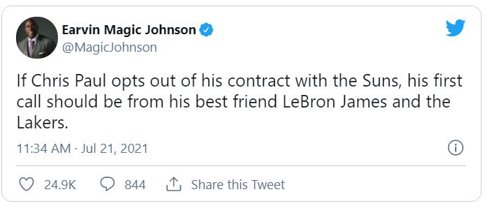 Magic Johnson: Chris Paul cần phải gọi ngay cho người bạn thân LeBron James - Ảnh 2.
