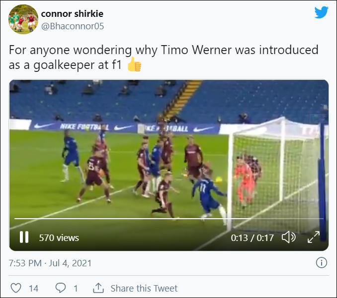 """Nữ phóng viên thể thao nhầm lẫn tai hại, gọi siêu tiền đạo """"Woodner"""" của Chelsea với vị trí chẳng ai nghĩ đến - Ảnh 4."""