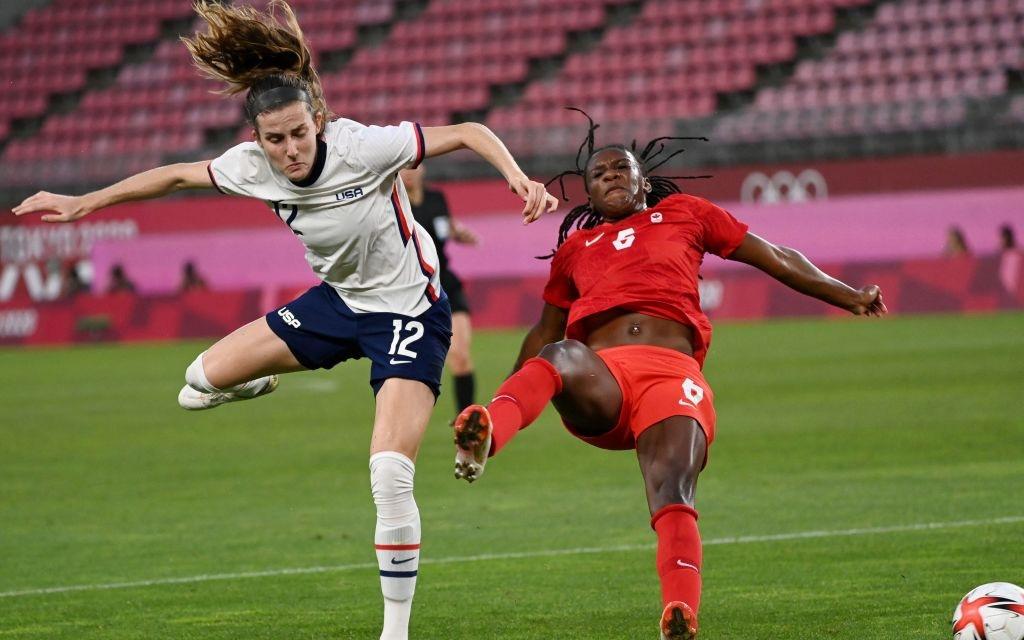 Nữ Canada thần kỳ vượt qua ĐKVĐ thế giới Mỹ để giành vé vào chơi trận chung kết Olympic
