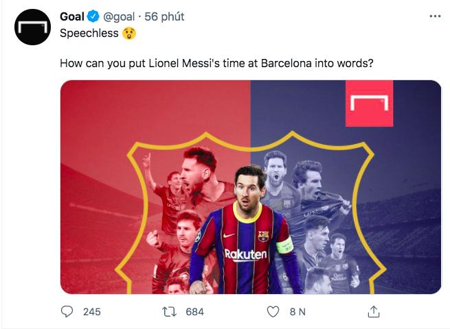 Dân mạng suy sụp, buồn đến mức không còn muốn xem bóng đá khi Messi rời Barcelona - ảnh 1