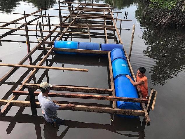 Sân bóng nổi trên mặt nước tại Thái Bình Dương – nơi cầu thủ phải bơi để nhặt bóng! - Ảnh 2.