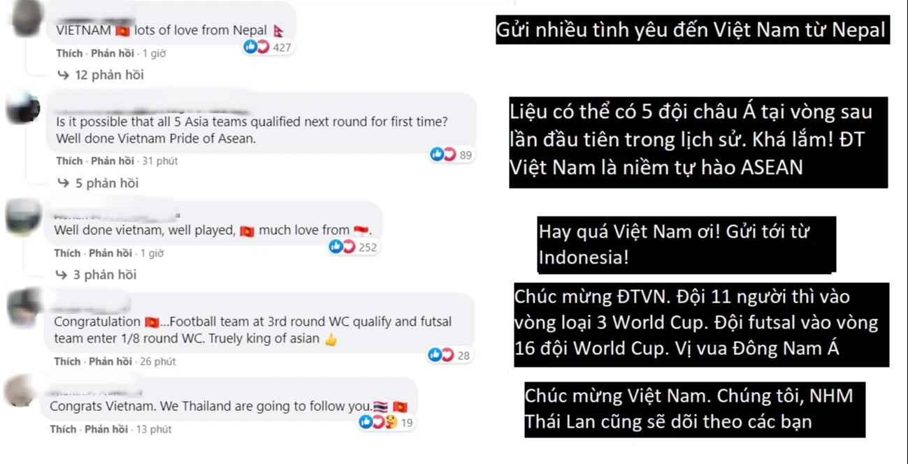 Fan Việt Nam và Thái Lan cùng ăn mừng khi 2 đội tuyển lọt vào vòng 16 đội Futsal World Cup 2021 - ảnh 5
