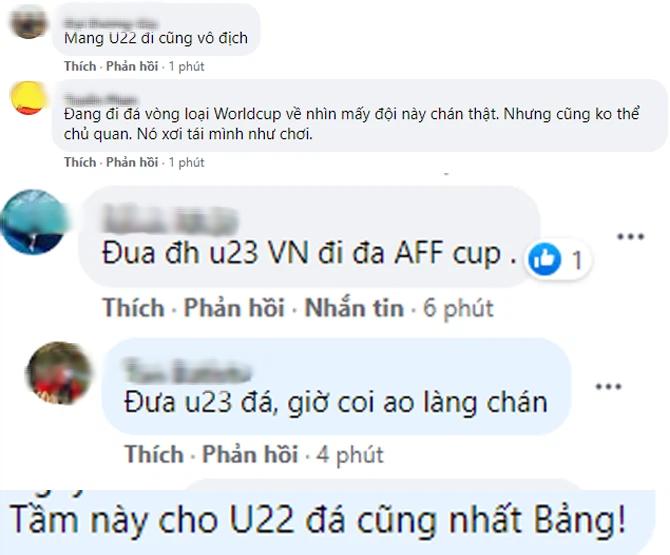 Dân mạng đề xuất đưa U22 đá giải AFF Cup, tuyển Việt Nam giữ sức cho vòng loại 3 World Cup 2022 - Ảnh 2.