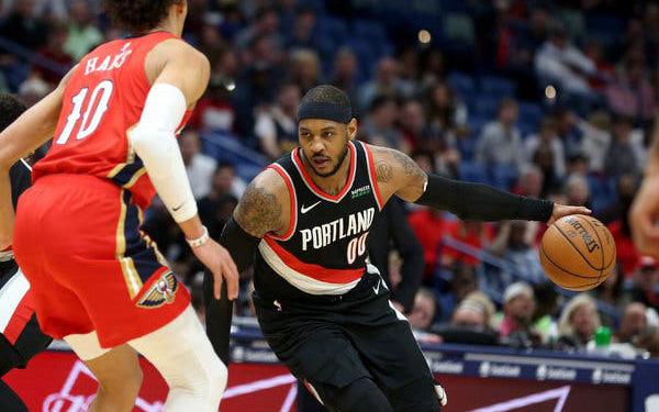NBA 19-20: Ngày ra mắt đượm buồn của Carmelo Anthony trong màu áo Portland Trail Blazer