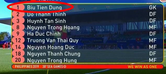 Ngượng chín mặt với màn thay tên đổi họ thủ môn Bùi Tiến Dũng từ chủ nhà SEA Games 30 - Ảnh 2.