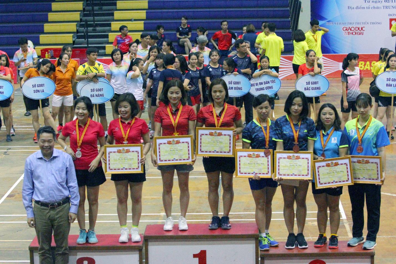 Bế mạc giải Cầu lông Người giáo viên nhân dân Toàn quốc 2019 - Ảnh 1.