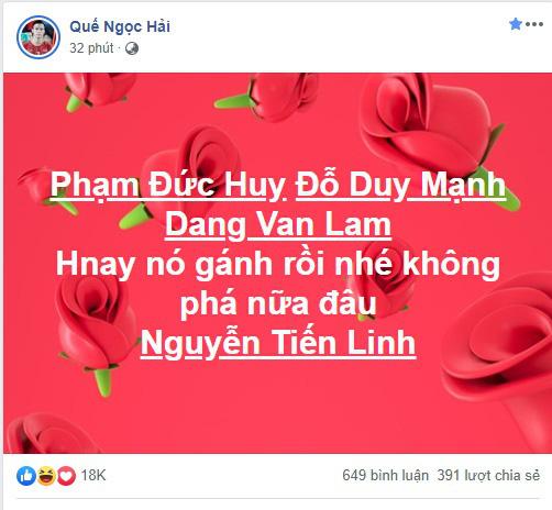 Đức Huy troll không thương tiếc tiền đạo U22 Việt Nam ghi cú đúp vào lưới Thái Lan: Linh mặt gẫy, Linh phá đội  - Ảnh 1.
