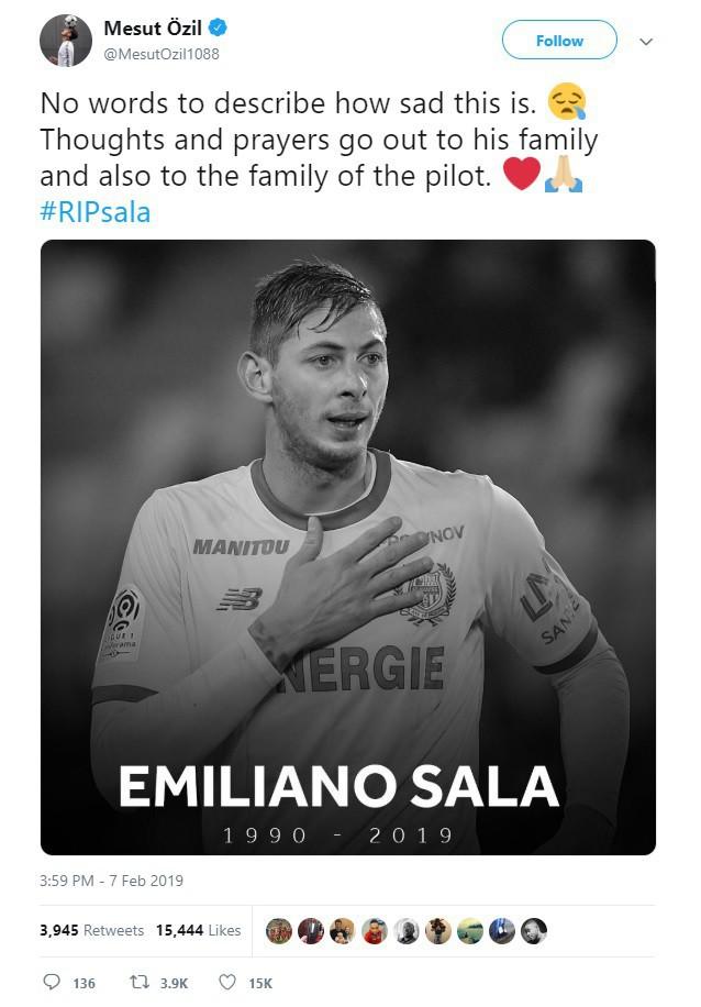 Dàn sao nổi tiếng thế giới bóng đá khóc thương cho số phận bi thảm của Sala, tiền đạo tử nạn sau vụ rơi máy bay bí ẩn - Ảnh 2.