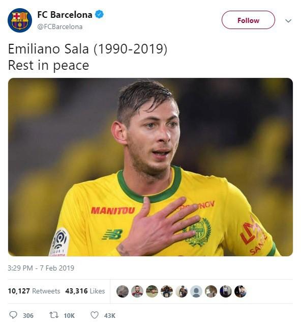 Dàn sao nổi tiếng thế giới bóng đá khóc thương cho số phận bi thảm của Sala, tiền đạo tử nạn sau vụ rơi máy bay bí ẩn - Ảnh 5.