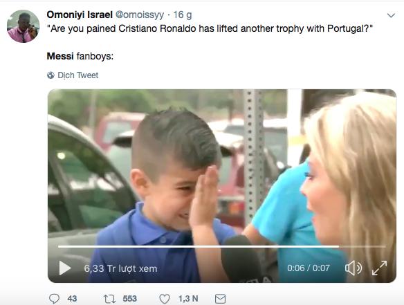 Messi bị troll không thương tiếc trên mạng xã hội sau khi Ronaldo giành thêm danh hiệu với ĐT Bồ Đào Nha - Ảnh 8.